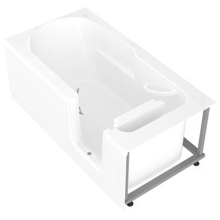 MediTub Step-In 30x60-inch Right Drain White Soaking Step-In Bathtub