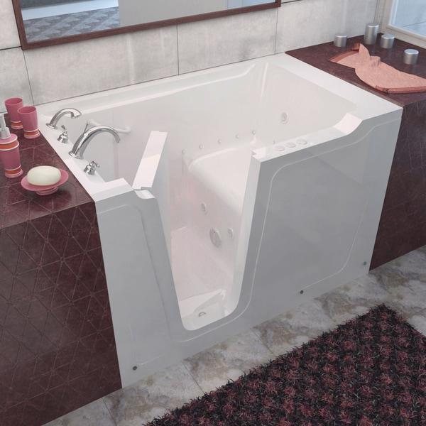 Shop MediTub 36x60-inch Left Drain White Whirlpool & Air