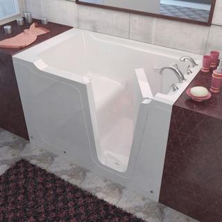 MediTub 36x60-inch Right Drain White Soaking Walk-In Bathtub