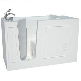 Explorer Series 30x60 Left Drain White Air Therapy Walk In Bathtub (Option:  30x60