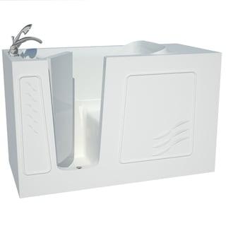 Explorer Series 30x60 Left Drain White Soaker Walk-in Bathtub