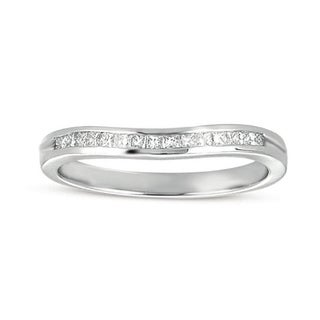 14k White Gold 1/4ct TDW Princess Channel-set Diamond Wedding Band (H-I, I1-I2)