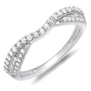 Elora 14k White or Rose Gold 3/8ct TDW Braided Diamond Wedding Band (H-I, I1-I2)