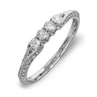 Elora 14k Gold 1/2ct TDW Round Diamond Promise Ring