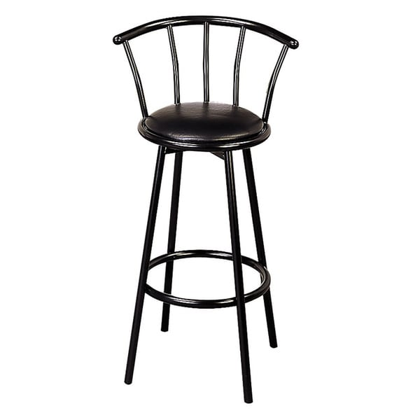 Black 30 Inch Swivel Bar Stools Set Of 2 Free Shipping
