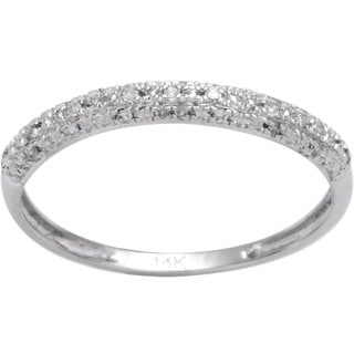 Elora 14k Gold 1/10ct TDW Diamond Wedding Band (I-J, I2-I3)