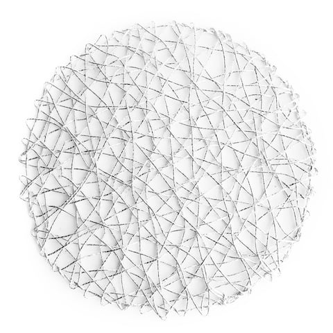 American Atelier Silver Mesh Construction Round Placemat