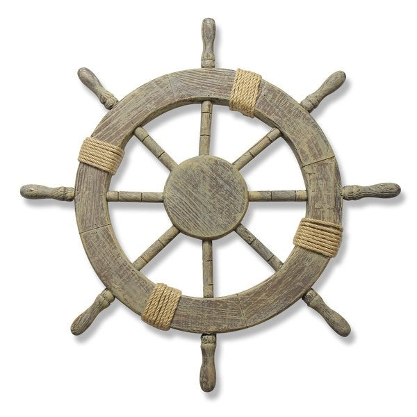 Nautical Wheel Decor: Large Marine Ship Wheel Nautical Decor