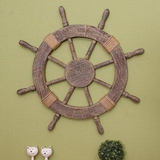 Large Marine Ship Wheel Nautical Decor