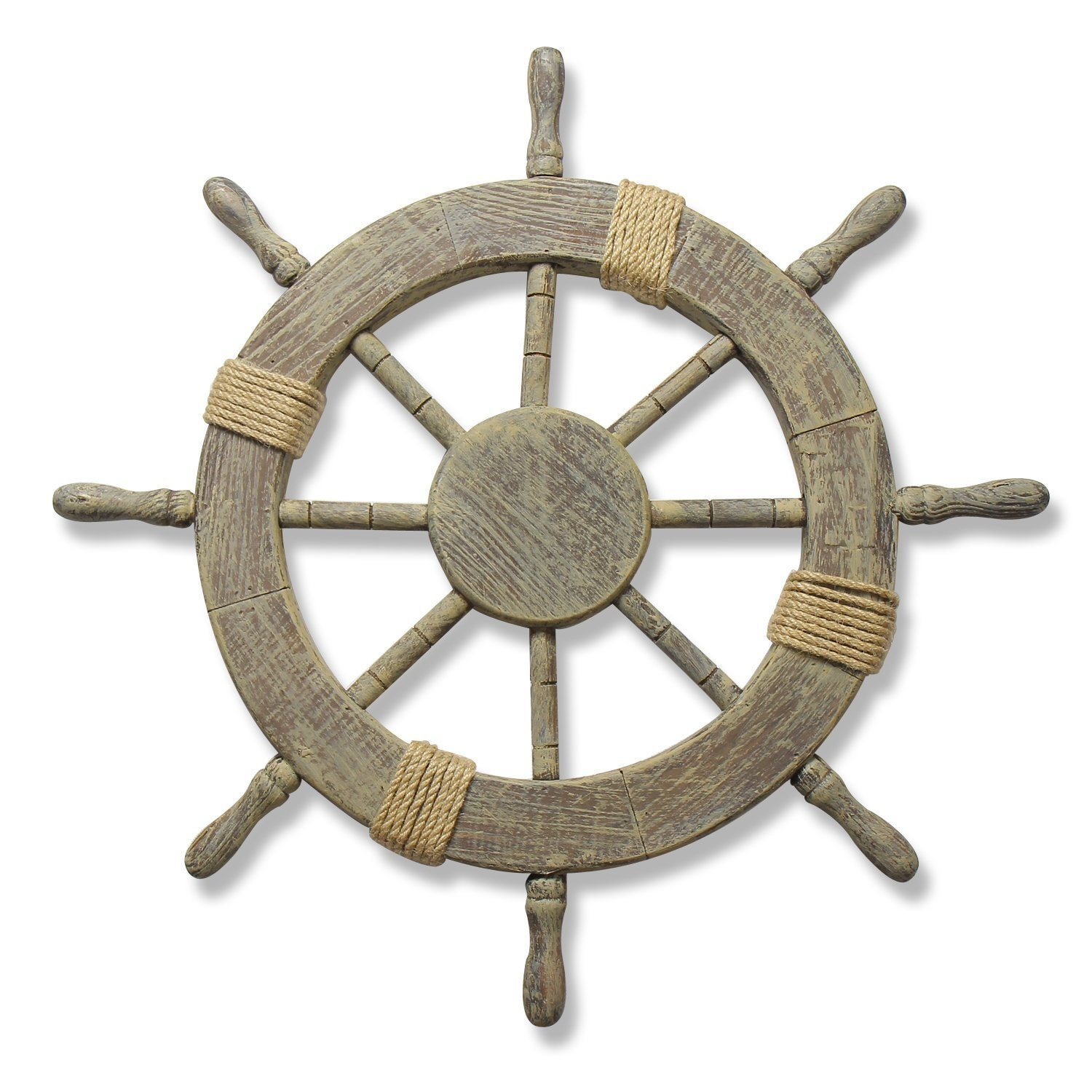 "Adeco Large Marine Ship Wheel Nautical Decor (24"" Marine ..."