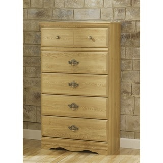 Oak Creek Light Northern Oak 5-drawer Wood Chest