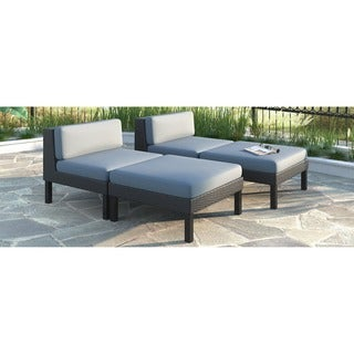 CorLiving 'Oakland' 4-piece Lounger Patio Furniture Set