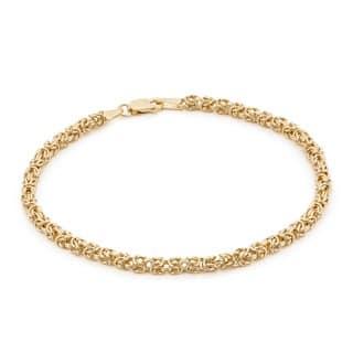 Gioelli 14k Yellow Gold Petite Byzanite Bracelet https://ak1.ostkcdn.com/images/products/8958705/P16169399.jpg?impolicy=medium