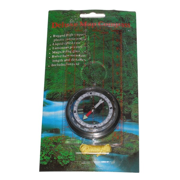 Scout Orienteering Luminous 2-inch Deluxe Map Compass