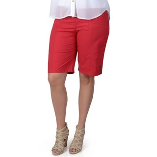 Red Bermuda Shorts Women'S
