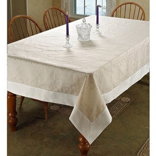Ribon Rose Design Embroidered Tablecloth