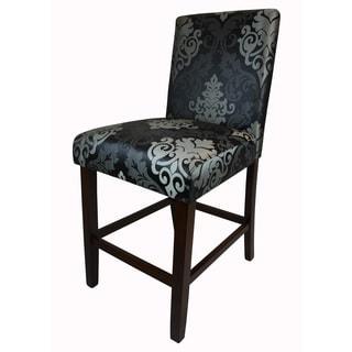 HLW Arbonni Modern Black Floral Bar Stool