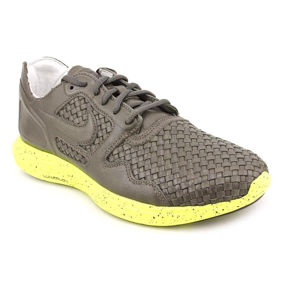 Nike Men's 'Lunar Flow Woven' Leather Athletic Shoe (Size...