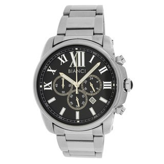 Roberto Bianci Men's All Steel Sports Chronograph Watch with Black Dial