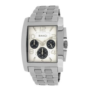 Roberto Bianci Men's Sports Chronograph Watch with Silvertone Dial