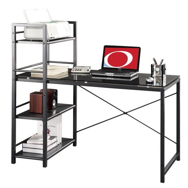 Home office desk modern design Classic Shop Modern Designs Home Office Computer Desk And Bookcase On Sale Free Shipping Today Overstockcom 8958952 Overstock Shop Modern Designs Home Office Computer Desk And Bookcase On Sale