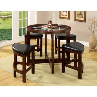 Copper Grove Carrick Dark Walnut 5-piece Counter Height Pub Set