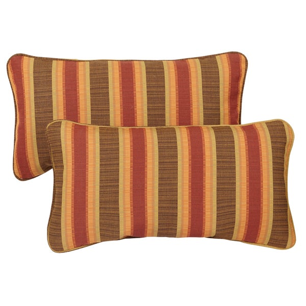 Shop Corded 12 X 24 Inch Indoor Outdoor Lumbar Pillows