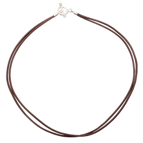 Leather Cord Double-strand Necklace