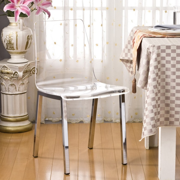 Pure Decor Clear Acrylic Dining Chair - Set of 2