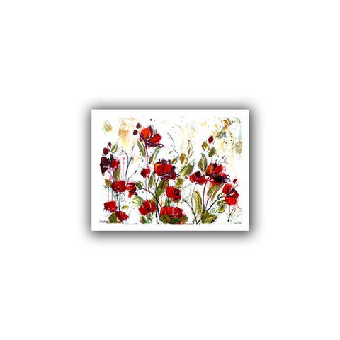 ArtWall Jolina Anthony 'Floral' Unwrapped Canvas - Multi