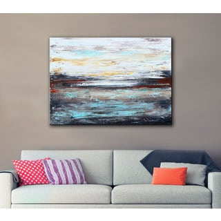 ArtWall Jolina Anthony 'Abstract Cold' Gallery-Wrapped Canvas