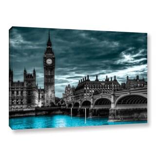 ArtWall Revolver Ocelot 'London' Gallery-Wrapped Canvas