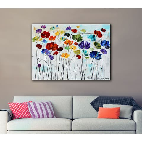 ArtWall Jolina Anthony Lilies Gallery Wrapped Canvas