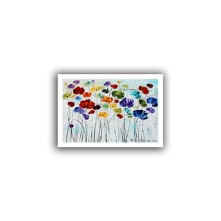 ArtWall Jolina Anthony 'Lilies' Unwrapped Canvas