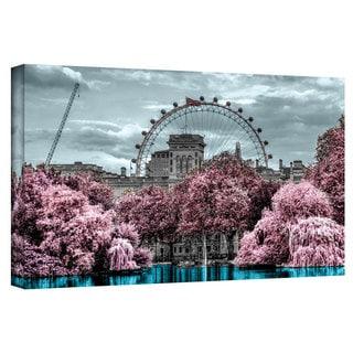 ArtWall Revolver Ocelot 'London II' Gallery-Wrapped Canvas