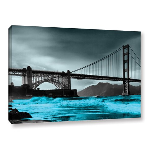 ArtWall Revolver Ocelot 'San Francisco Bridge II' Gallery-Wrapped Canvas - multi