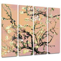Art Wall Vincent van Gogh '4-Piece Almond Blossom-Interpretation in Eggshell Pink' gallery wrapped