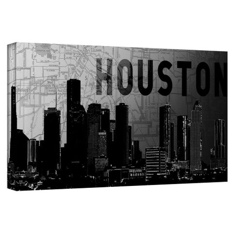 "ArtWall Art Sandcraft ""Houston"" Gallery-Wrapped Canvas"