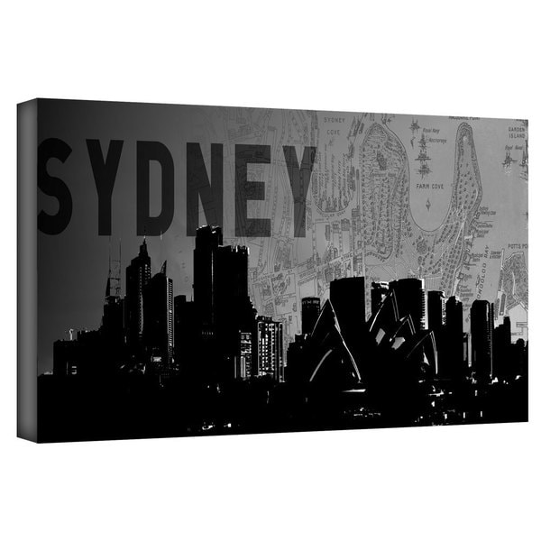 ArtWall Art Sandcraft 'Sydney' Gallery-Wrapped Canvas - Multi