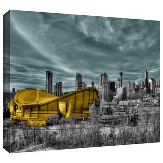 ArtWall Revolver Ocelot 'Calgary' Gallery-Wrapped Canvas