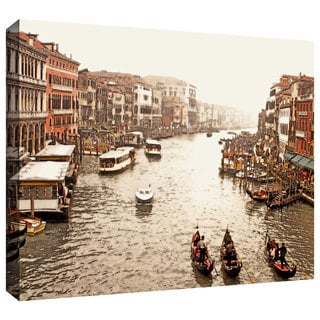 ArtWall Linda Parker ': 3 Gondolas - Venice ' Gallery-Wrapped Canvas