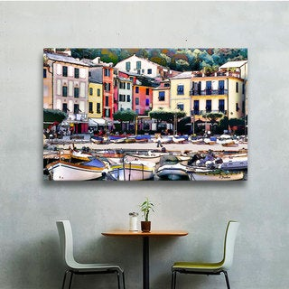 ArtWall Linda Parker 'Italy: Sunny Portofino' Gallery-Wrapped Canvas
