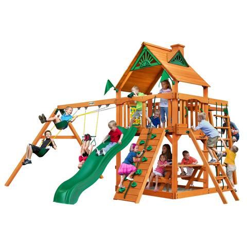 Gorilla Playsets Navigator Cedar Swing Set and Natural Cedar Posts