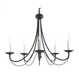 Gallery Versailles 5-light Black Wrought Iron Chandelier