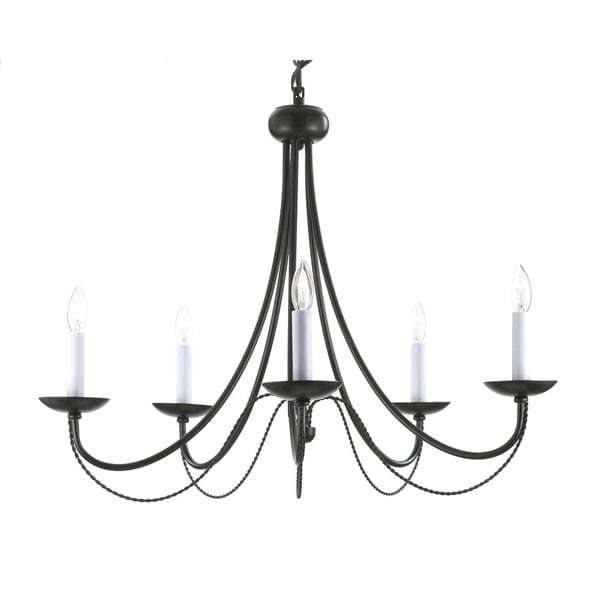 Gallery versailles black wrought iron 5 light chandelier free gallery versailles black wrought iron 5 light chandelier mozeypictures