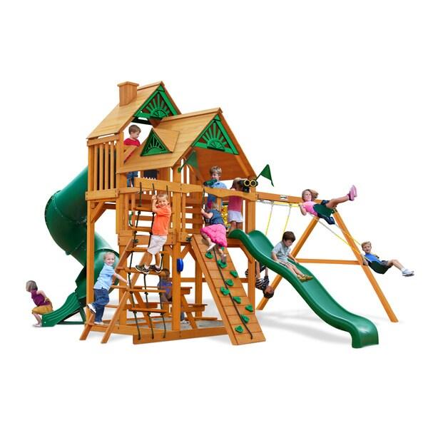 Gorilla Playsets Great Skye I Cedar Swing Set and Natural Cedar Posts
