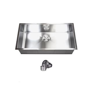 Zero Radius 30-inch 16-gauge Single-bowl Undermount Kitchen Sink Set