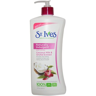 St. Ives Naturally Indulgent Coconut Milk & Orchid 21-ounce Body Lotion