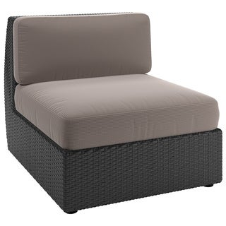 CorLiving Seattle Textured Black Weave Patio Middle Seat