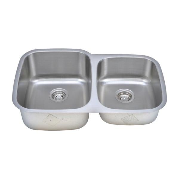 Wells Sinkware Craftsmen Series 32-inch 18-gauge Undermount 60-40 Double Bowl Stainless Steel Kitchen Sink Package. Opens flyout.